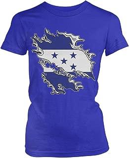Junior's Honduras Tear Through Rip Out Honduran Flag T-Shirt
