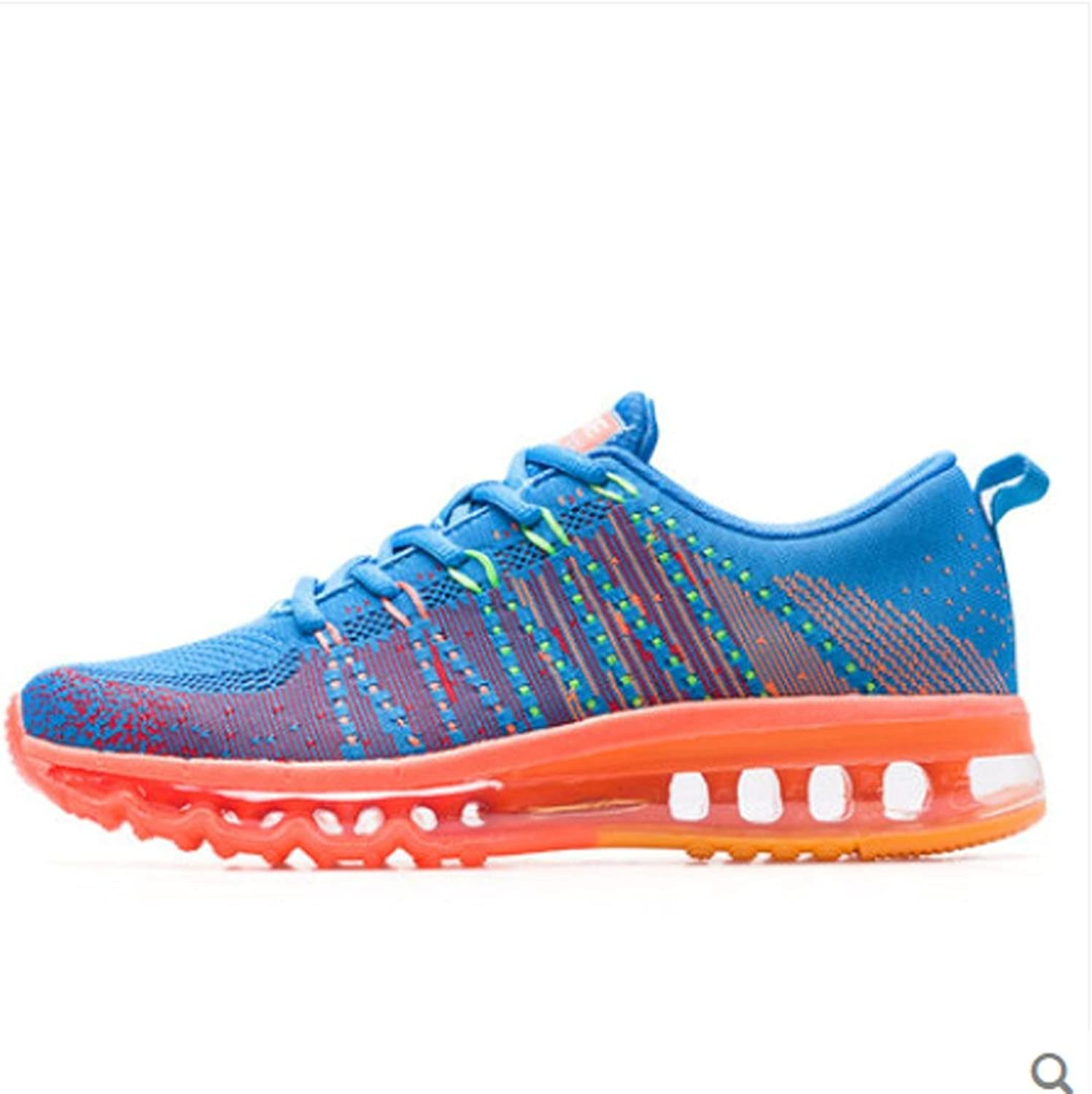 W&P Men's Rainbow braided line sports running in summer and autumn the whole Palm cushion running shoe