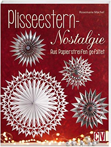 Plisseestern-Nostalgie: Aus Papierstreifen gefaltet