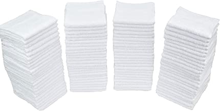 "Simpli-Magic 79155 Cotton Washcloths White, 40 Pack, Size: 12""x12"""