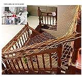 Red de Seguridad Niños (4x6m Marrón) Balcón Escalera Interior Anti-caída Valla Exterior Protección Redes de Cubierta Carga Malla de Repuesto de Fútbol Red Decorativa de Cuerda de Nylon