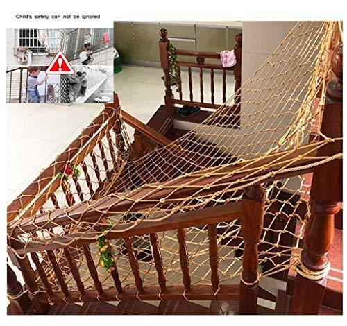 NIUFHW Valbeschermingsnet trapbeschermingsnet decornet nylon touw bruin veiligheidsnet voor kinderen kattennet balkon beschermingsrooster 2 x 3 m