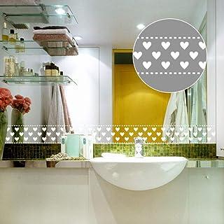 10x1000cm solide blanc amour stickers muraux fenêtre verre salle de bains cuisine armoire poêle décalcomanies décor à la m...