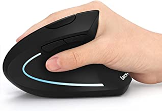 Ergonomic Mouse, LEKVEY Vertical Wireless Mouse - Rechargeable 2.4GHz Optical Vertical Mice : 3 Adjustable DPI 800/1200/16...