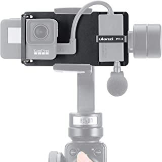 ULANZI PT-6 Mount Plate for GoPro 7/6/5 Use on Smartphone Gimbal Stabilizer Accessories for for DJI Osmo Mobile 2 Gimbal Z...