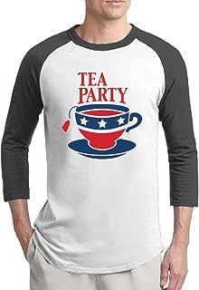 Men's Tea Party Logo Cup Raglan Sleeves Baseball T-Shirt