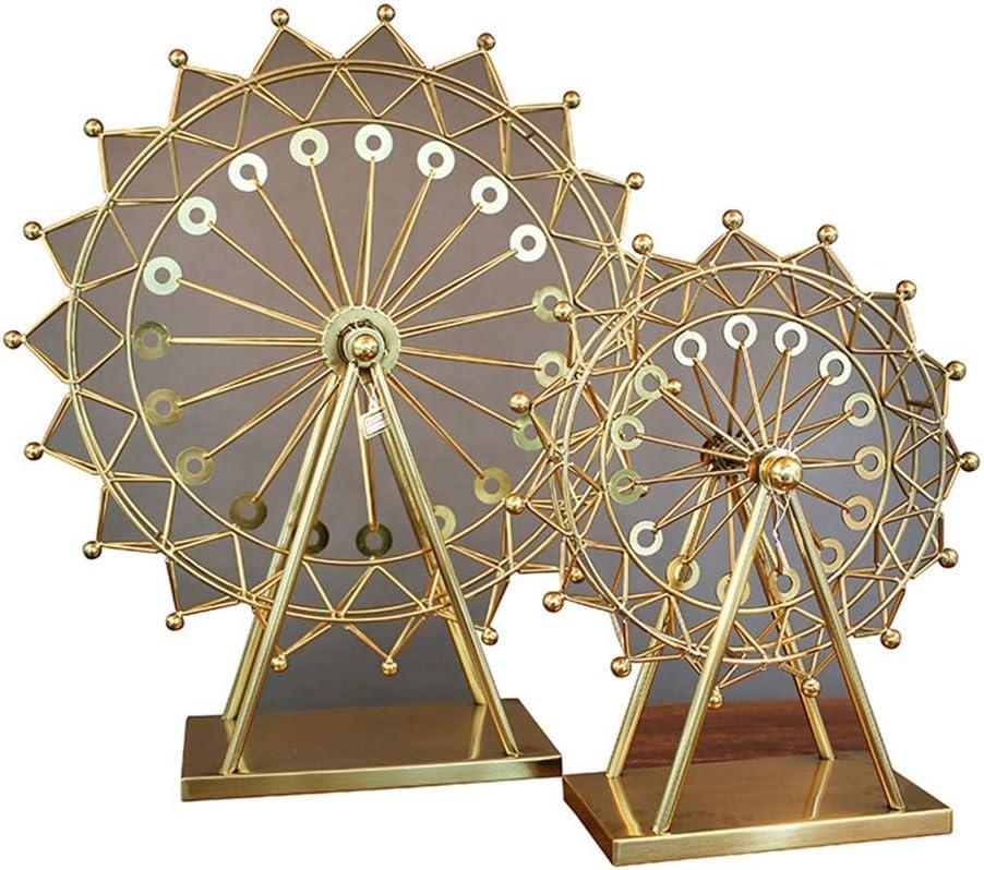 Yangmanini Decoration Fees free!! Crafts Super sale Metal Engineerin Alloy Ferris Wheel
