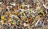 Berkin Arts Jackson Pollock Giclee Imprimir en Lienzo-Pinturas Famosas Arte Fino Póster-Reproducción Decoración de Pared(Convergencia) Tamaño Grande 80cm x 47.8cm