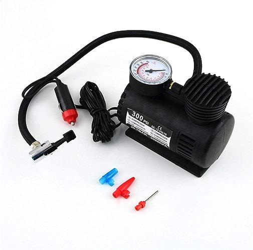 UniqueHeart Noir portable Polyvalent 12V 300PSI Pneu De Voiture Gonfleur Pompe Mini Compresseur Pompe De Voiture Vélo Pneu Pneumatique Gonfleur
