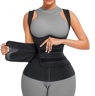 کت و شلوار سونا Wonderience Neoprene for Women Suna Sweat Vest Trainer کمر زنانه جلیقه مخزنی زیپ دار با کمربندهای قابل تنظیم
