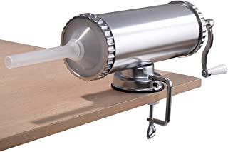 Goplus Stainless Steel Horizontal Sausage Stuffer Maker Kitchen Machine Meat Stuffing Maker Kit Commercial with 3 Size Tube (3L)