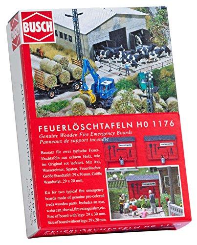 Busch 1176 Planche à feu d'urgence en Bois Paysage de Ho Echelle Modèle