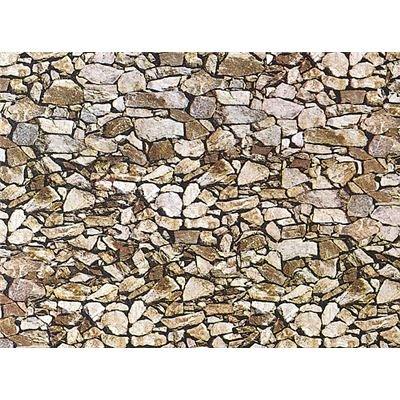 FALLER 170610 - Dekor-Mauerplatte Naturstein Monzonit