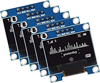 وحدة عرض او ليد 5 قطع 0.3 بوصة من ديالونكي او ال اي دي 128 × 64 شاشة عرض او ال اي سي سيريال 12864 SSD1306 4 Pin ذاتية الإض...
