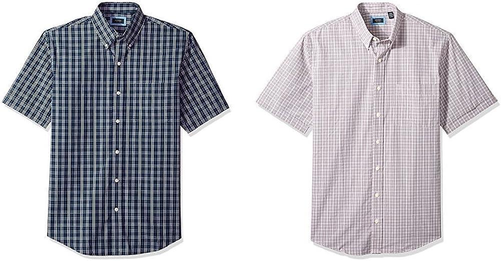 Arrow Men's Phoenix Mall Big and 1 year warranty Tall Hamilton Short Do Poplins Sleeve Button