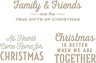 Spellbinders Gifts of Christmas Sentiments Glimmer Merry Collection Hot Foil Plate, Metal