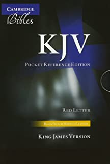 KJV Pocket Reference Bible, Black French Morocco Leather with Zip Fastener, Red-letter Text, KJ243:XRZ Black French Morocco Leather, with Zip Fastener