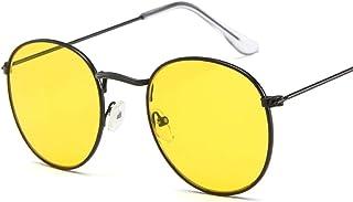 ShSnnwrl Único Gafas de Sol Sunglasses Gafas De Sol Redondas Pequeñas para Mujer, Gafas De Sol De Ojo De Aviador para Hombre, Mon