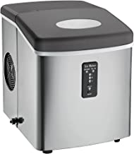 Igloo ICE103 Counter Top Ice Maker with Over-Sized Ice Bucket, Stainless Steel (Renewed)