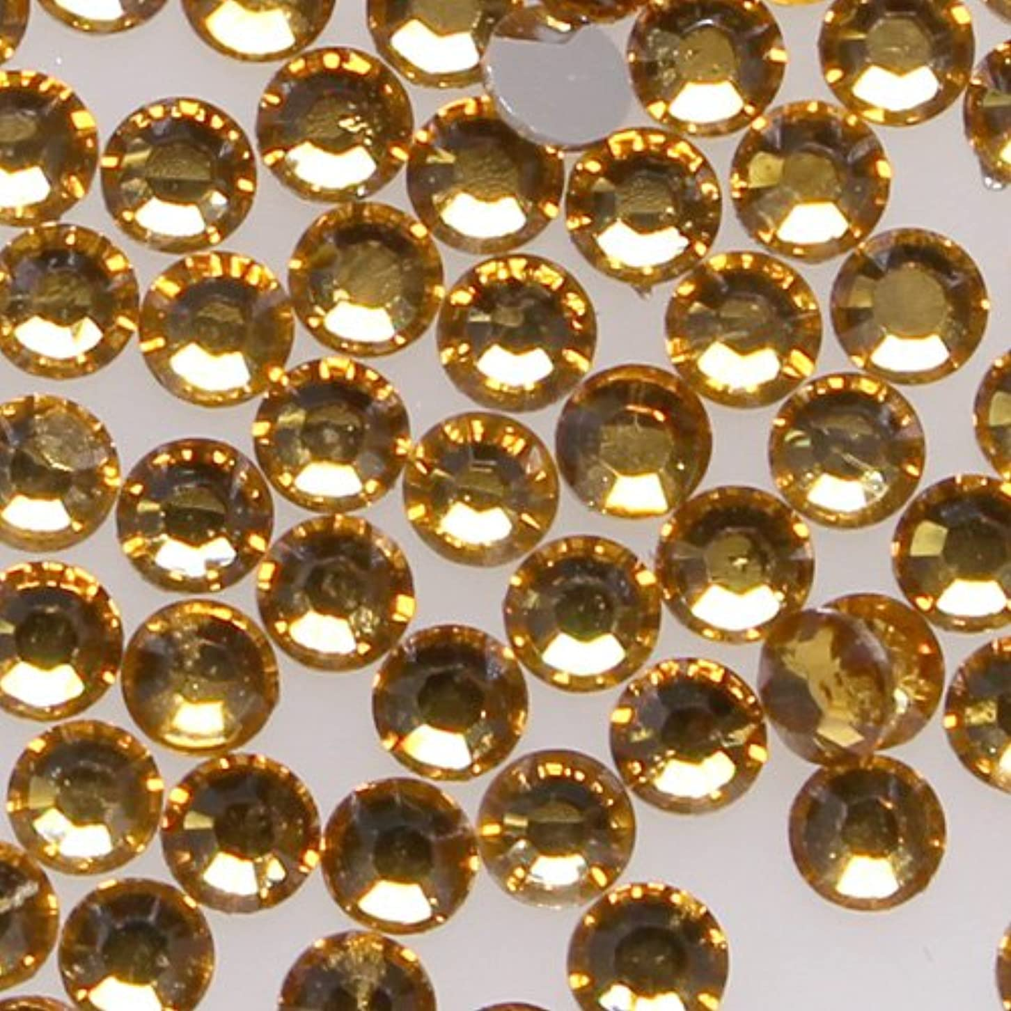 伝説ホステス一部高品質 アクリルストーン ラインストーン ラウンドフラット 約1000粒入り 4mm トパーズ