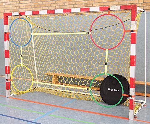Boje Sport Variable Handball Torwand-to-Go Junior für Kinder mit 4 Ringen Ø 70 cm