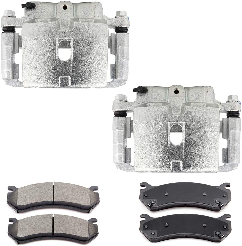ECCPP Rear Brake Factory Be super welcome outlet Caliper with Ceramic Cadillac Esca Pads fit for