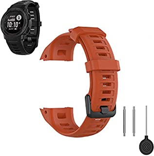 FoundEast Compatible with Garmin Instinct Bands, Replacement Silicone Water Resistant Fitness Watch Wrist Band Strap for I...