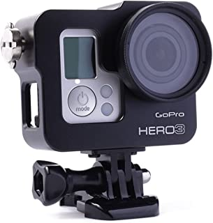 GoPro Hero4カメラ用 アルミニウム製 Pinhenメタルスケルトン 保護ケース Aluminium Metal Protective Case For Hero 4 3 3+ (Case Black)