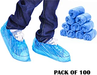 { Pack of 100 } Mototive lastic Disposable Stretchable Shoe Cover for Uses Cooking
