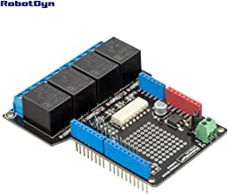 RobotDyn - Relay Shield with opto-Isolation and prototyping Area for Arduino Uno, Mega, Leonardo. 4 Channels