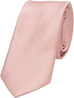 Connor Men's Plain 6 Cm Tie Pink 1 Fit Sizes XS-5XL for Going Out Smart Occasionwear Formal
