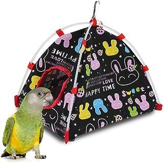 LSTC Giochi per Pappagalli Gabbia per Criceti Amaca Peluche Uccelli Casa per Uccelli sospesa Amaca per Animali Domestici Amaca per Uccelli Green,s