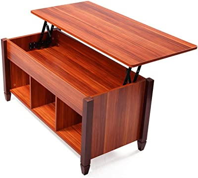 Incredible Amazon Com Yaheetech Adjustable Lift Top Coffee Table Interior Design Ideas Grebswwsoteloinfo