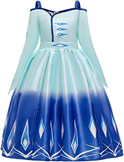 COUCOU Age Girls Elsa Act 2 Deluxe Princess Birthday Party Dress Ball Gown Skirt Halloween Costume