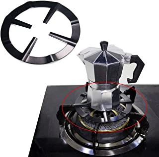 Misszhang-US Durable Steel Moka Pot Coffee Maker Support Shelf Simmer Ring for Gas Stove Black