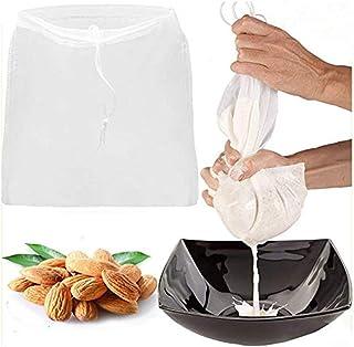 2 Pcs Pro Quality Nut Milk Bag - Big 12X12 Commercial Grade - Reusable Almond Milk Bag & All Purpose Food Strainer - Fine ...