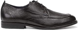 Fluchos   Zapato de Hombre   Henri F0826 Samun Negro   Zapato de Piel   Cierre con Cordones   Piso de Goma