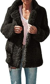 Alalaso Womens Faux Fur Coat Winter Outwear Faux Fleece Jacket Casual Shaggy Shearling Jacket for Women