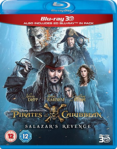 Pirates Of The Caribbean Salazar`s Revenge 3D Limited edition Steelbook / Includes 2D Version / Import / Region Free Blu Ray