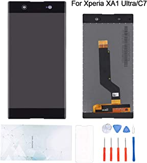 Kosuroum Screen Replacement Compatible with Sony Xperia C7/XA1 Ultra G3212 G3221 G3223 G3226 LCD Glass Display Touch Digitizer Assembly Tools (Black)