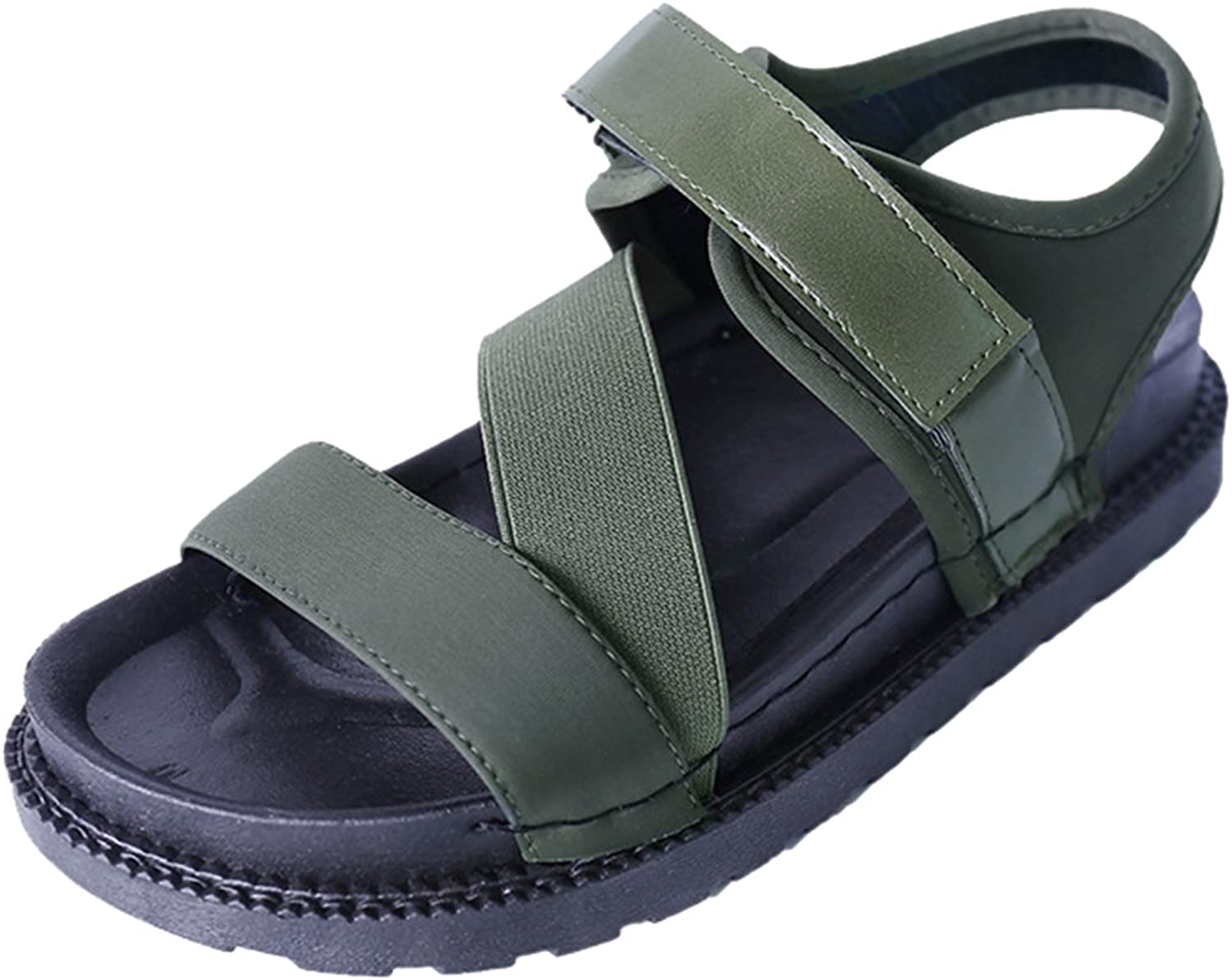 FEMAROLY Youth Girls Fashion Roman Sandals Student Summer Velcro Sandal