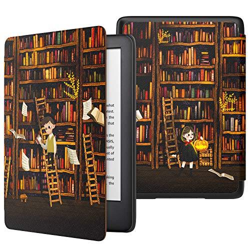 MoKo Funda para Kindle 10th Generation 2019 Release, Funda de SmartShell Delgada y Ligera con Auto Sueño / Estela para Amazon Kindle 10th Generation 2019 Release - Estante para Libros