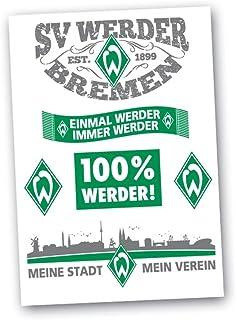 Werder Bremen Aufkleber-Set Motive 6tlg. SV