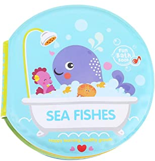 Jinyi Baby Bath Book, Baby Shower Book, Waterproof for Baby Toddler Child Infant(Ocean)
