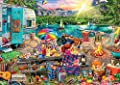 Buffalo Games - Aimee Stewart - Family Campsite - 500 Piece Jigsaw Puzzle with Hidden Images by Buffalo Games