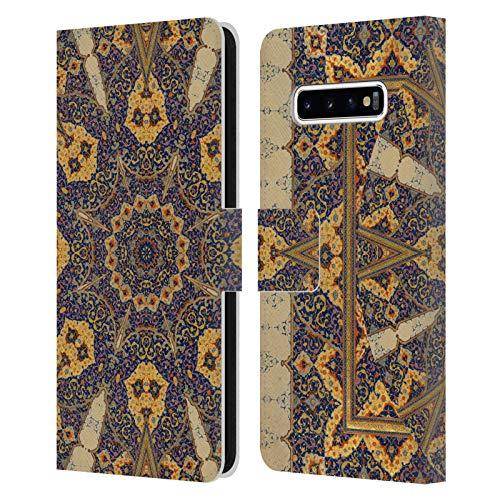 Head Case Designs Licenciado Oficialmente Aimee Stewart Guión Antiguo Mandala Carcasa de Cuero Tipo Libro Compatible con Samsung Galaxy S10+ / S10 Plus