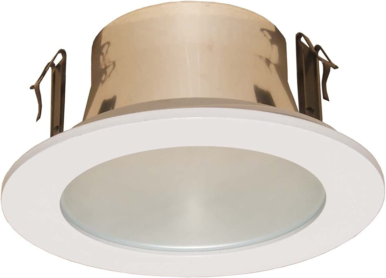 6-Pack--4 Inches Frosted Lens Shower Trim for Line Voltage Recessed Light lighting-white Fit Halo juno