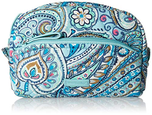 Vera Bradley Women's Signature Cotton Mini Cosmetic Makeup Bag, Daisy Dot Paisley, One Size