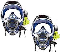 OCEAN REEF BUDDY COMMUNICATION COMBO - Neptune Space G. Divers Full Face Scuba Diving Mask with GSM Diver Communication Units 2 Masks 2 Com Units Blue Size M/L
