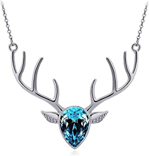 Austrian Crystal Act The Role Ofing is Tasted a Woman's Antlers Clavicle Chain Necklace Milu Deer